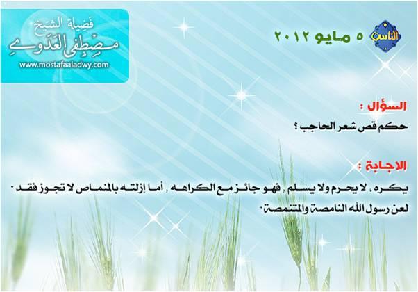 حكم قص شعر الحاجب الموقع الرسمي لفضيلة الشيخ مصطفى العدوي